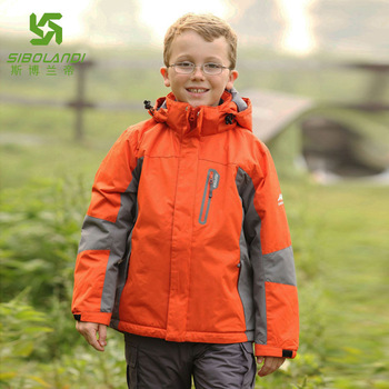 Free shipping Pollan child snowboard jacket windproof thermal outerwear cotton-padded ski jacket
