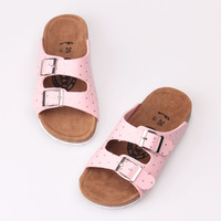 2013 children shoes dot slippers double buckles female Pink shoes size