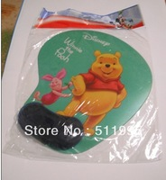 Free Shipping Lovely Bear Picture Wrist Rest Mouse Pad Stock Selling