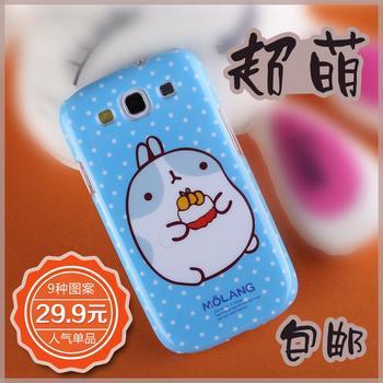 Cartoon rabbit cell phone case  for SAMSUNG   i9300 s3 rabbit protective case i9308 protective case