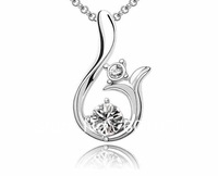 Free shipping Hot sale The new jewelry crystal crest wholesale Austrian crystal necklace - the sun