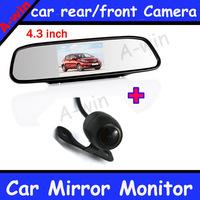 """car Monitor for DVD Camera VCR 4.3"""" Car Rearview Mirror Monitor and car backup camera"""