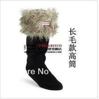Free shipping knee - high socks H socks, rain boots socks,  Long socks and woman rain boots, socks, warm socks