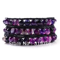 2013 hot sale multi colourful beads new leather bracelet wholesale