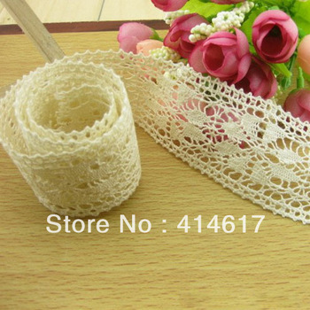 5 Yards Flower pattern trimming lace,Beige lace,embelishments for cloth,trim lace for DIY