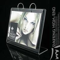 8 l ring acrylic calendar frame crystal calendar frame customize calendar