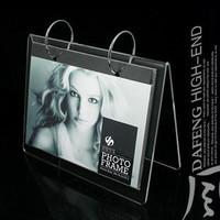 6 acrylic calendar frame flip diy photo frame table card multicolor