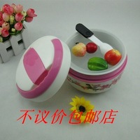 Painting of flowers and ceramic inner heat preservation heat insulation barrels lunch box lunch box lunch box 800 ml hand pan