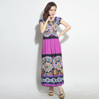 Women's summer 2013 beach dress bohemia dress mopping the floor full one-piece dress h3532