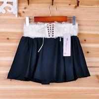 Promotional goods summer patchwork lace lacing skorts shorts skorts 43099