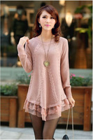 2013 Hot Sale Women's woollen Sweater Popular Fashion Sweater High Quality Fashion O-Neck Pullovers Lace Free Shipping