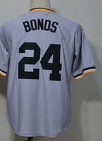 Men barry bonds 24  throwback Baseball Jersey,Cheap Sports Jersey,Embroidery logos,Mix order