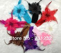 2013 fashion feather headband top baby headband  Girls Hair Accessories 12pcs/lot   free shipping