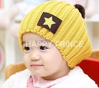 Baby hat child applique hat autumn and winter warm hat