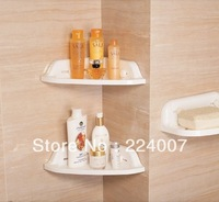Min.order $15 wholesale Strong suction cup triangle bathroom shelves rack single bathroom shelf storage rack storage