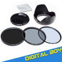 NewDigital Boy 52mm UV CPL ND2-400 lens filter protector circular polarizer neutral density 52mm+Lens Hood+Lens Cap