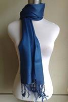 Dark blue Fashion Laide's Solid Pashmina Silk Shaw Scarf Wrap Wholesale and Retai Free shipping SW3005