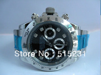 free shipping watches! Men's luxury black dial stainless steel fashion multifunctional mens watch