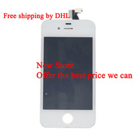 Brand New White LCD Screen with Touch Digitizer Assembly for Iphone 4S Free Shipping by EMS DHL