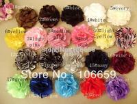 "Hair Accessories for girls 3"" Petite Satin Mesh Silk Flowers 100pcs/lot diy flowers Headbands"