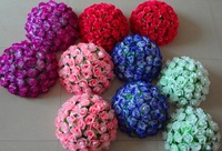 Good Quality 1pc 30cm (12'') wedding decoration Artificial roses flower ball