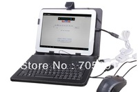 Free shiping Drop  shipping  9.7 inch keybord case for Tablet  A10/A10T/A10HD/P98/P98HD and so on