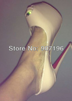 160mm Daffodil Pumps various style red bottom high heels US 4-10.5,Brand platform pumps party dress wedding shoes