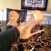 New 160mm Red bottom shoes Daffodil pumps platform high heels Zoulou cutout women dress shoe 35-42