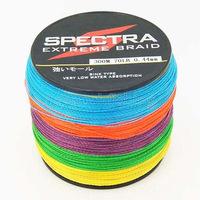30pcs/lot Whole Sale 100%PE 4S DYNEEMA SPECTRA FISHING BRAID LINE 300M 10LB-100LB 5 colors Mixed