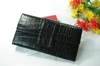 Fashion women's wallet medium-long wallet crocodile pattern day clutch bag card holder evening bag
