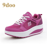 9doo women's platform shoes platform shoes slimming shoes swing gauze elevator shoes breathable sport shoes