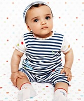 Aykta male child set stripe twinset hot-selling