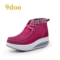 9doo high swing women's shoes casual shoes female slimming stovepipe shoes platform female