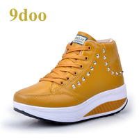 9doo2013 spring and autumn medium cut swing shoes casual beauty care slimming stovepipe shoes platform women's shoes