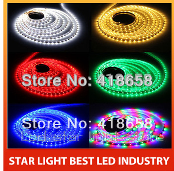 Hot sell Low price led strip 3528 RGB waterproof remote 300Led 16Ft Green/ white / blue / red led strip 4.8W/m 24W