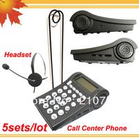 V400 RJ11 plug caller id headphone telephone Call center headset phone 5pcs/lot DHL free shipping free