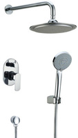 Luxury In wall Rain and Handle shower Faucet Bathroom Luxury Sanitary Products NY91013A