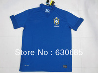 New arrival 13/14 fans version Brazil away blue best quality soccer football jersey, Brazil soccer football jerseys