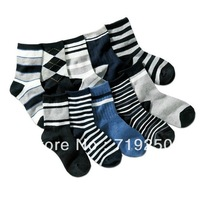 Free shipping,hot-selling 10 pairs/lot UK style 100% cotton child socks boy's socks 7-11 years old,size 19-23CM