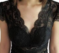free shipping summer sexy V-neck full tank tops women cutout spaghetti strap vest basic shirt lace shirt Lc13072113