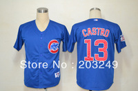 Chicago Cubs #13 Starlin Castro blue jerseys