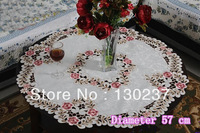 6730 / diameter 57 cm / Chinese embroidery hollow round tablecloths / table mat / tea table cloth / Furnishings