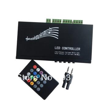 Music LED Controller Infrared 12V-24V for 5050/3528 RGB LED Strip Light 18A 216W