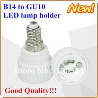 10pcs/lot E14 to GU10 led lamp holder LED Light Lamp Bulb socket Adapter Converter Holder spare parts for light Free shipping