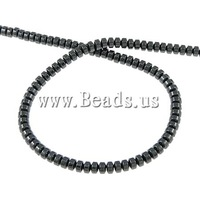 Free shipping!!!Magnetic Hematite Beads,Factory Price, Rond, black, A, 4x3mm, Hole:Approx 1mm, Length:15.5 Inch, 10Strands/Lot