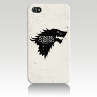 For iPhone 4 4S iphone 5 Soft TPU  Case cover game of thrones house stark IZC1266  Wholesale Retail