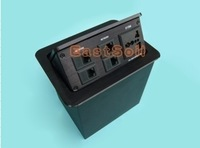 TS-401M Press Type Table socket for conference desk black color in Power socket & RJ45