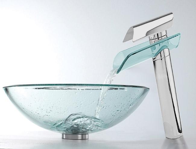 Compra lavabo de cristal templado online al por mayor de - Lavabos cristal templado ...