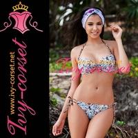 Free Shipping!Sexy Swimsuit Swimwear Beachwear Bikini Set beach bikini in Blue Floral Y3028