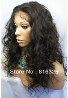 free shipping >>>Healthy Malaysian Curly Imitate Human Remy Hair Full no Lace Wig